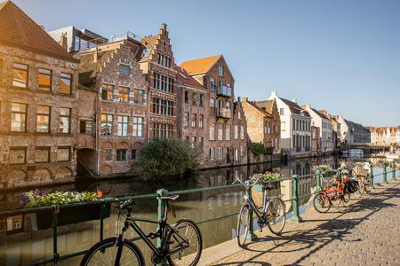 Photo pour Gent city in Belgium - image libre de droit