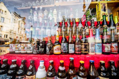 Foto de Belgian beer bottles - Imagen libre de derechos