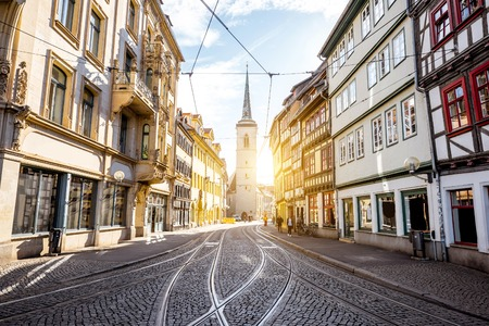 Foto de Erfurt city in Germany - Imagen libre de derechos