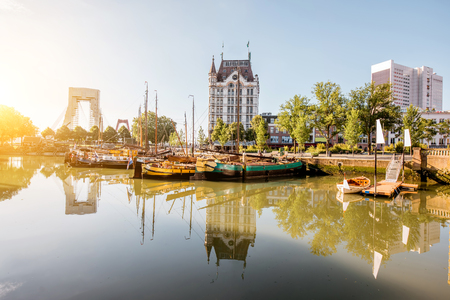Photo for Rotterdam city in Netherlands - Royalty Free Image