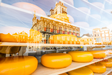 Photo for Showcase with dutch cheese - Royalty Free Image