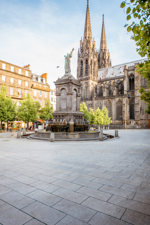 Foto de Cathedral in Clermont-Ferrand city - Imagen libre de derechos