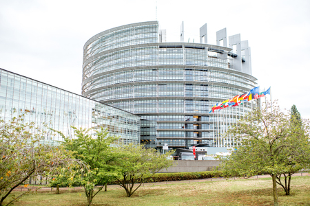 Photo for European Union Parliament building in Strasbourg city, France - Royalty Free Image