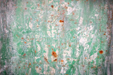 Foto de Old green rusted metal background - Imagen libre de derechos