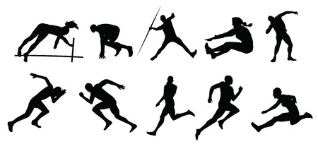 Illustration pour silhouette of people sports - image libre de droit