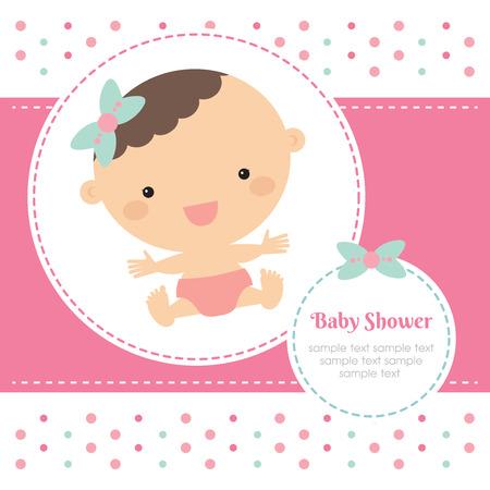 Ilustración de baby shower - Imagen libre de derechos