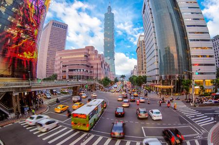 Foto de Street view of taipei city - Imagen libre de derechos