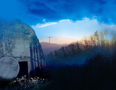 Photo pour Sunrise at the Tomb of Jesus - image libre de droit