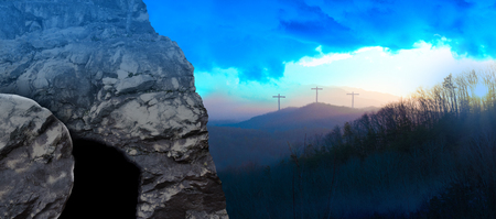 Photo pour Panorama - The Tomb of Jesus at Sunrise - image libre de droit