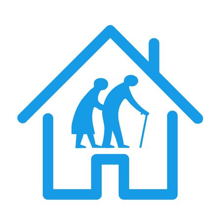Foto de Retirement house icon illustration - Imagen libre de derechos