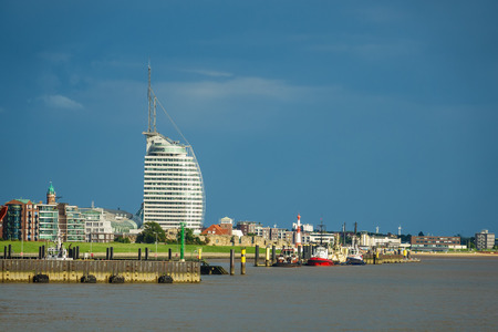 Photo for View to the city Bremerhaven in Germany. - Royalty Free Image