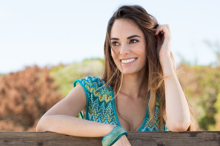 Photo for Portrait Of A Happy Attractive Smiling Girl - Royalty Free Image