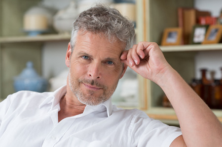 Photo for Portrait Of Confident Mature Man Looking At Camera - Royalty Free Image