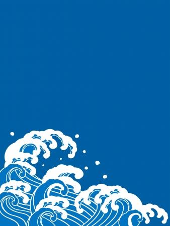 Ilustración de A beautiful Japanese wave  - Imagen libre de derechos