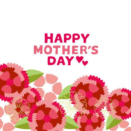 Illustration pour Illustration of Carnation Mother s Day - image libre de droit