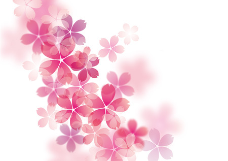 Illustration pour Illustration of beautiful cherry tree  sakura  - image libre de droit