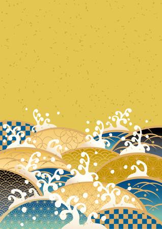 Ilustración de Sum pattern of the sea of Japan - Imagen libre de derechos
