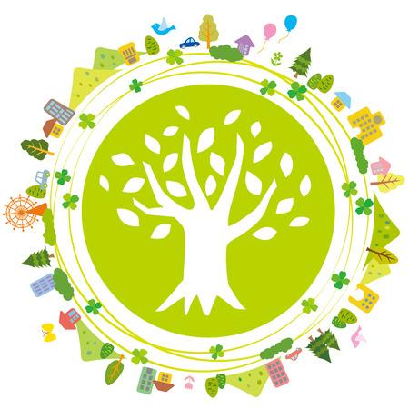 Ilustración de Illustration of Earth refreshing eco - Imagen libre de derechos