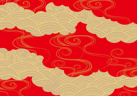 Illustration for Pattern of beautiful Japanese kimono - Royalty Free Image