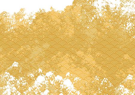Ilustración de Pattern of Japanese sea - Imagen libre de derechos