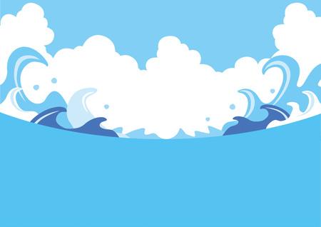 Ilustración de Illustration of summer wave - Imagen libre de derechos