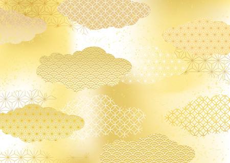 Ilustración de Japanese pattern background - Imagen libre de derechos