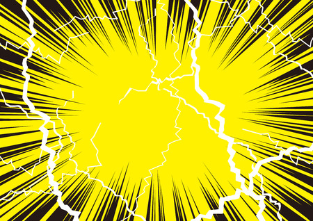 Illustration for Illustration that shock is great with radiation and lightning - Royalty Free Image