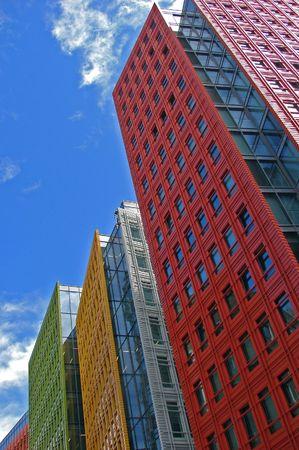 Foto de                                colorful office buildings - Imagen libre de derechos