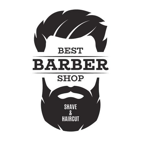Illustration pour Barber shop isolated vintage label badge emblem. - image libre de droit