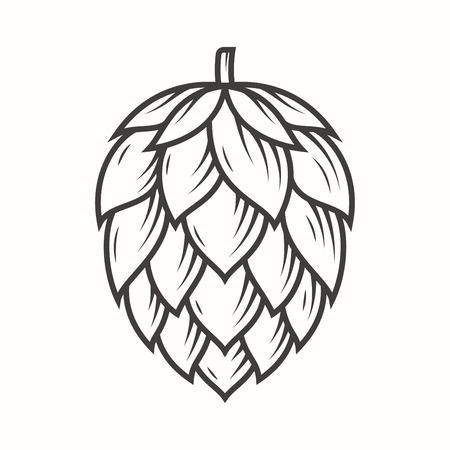 Illustration for Hop emblem icon label logo. - Royalty Free Image
