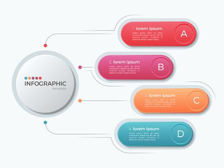 Ilustración de Presentation business infographic template with 4 options. - Imagen libre de derechos