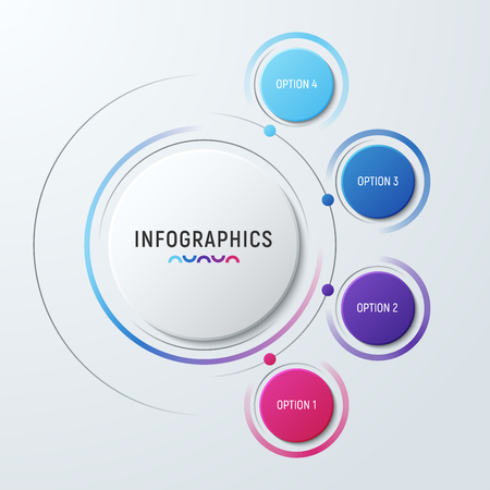 Ilustración de Vector circle chart infographic template for presentations, adve - Imagen libre de derechos