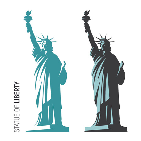 Photo for Vector illustration of the Statue of Liberty in New York City. S - Royalty Free Image
