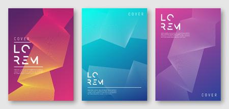 Ilustración de Abstract gradient geometric cover designs - Imagen libre de derechos