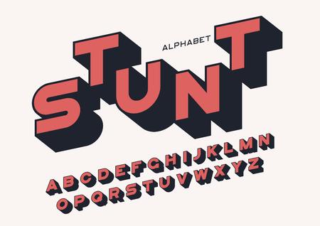 Ilustración de Styled sans serif bold letters with long shadow - Imagen libre de derechos
