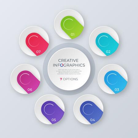 Ilustración de Contemporary circle chart template, infographic design - Imagen libre de derechos