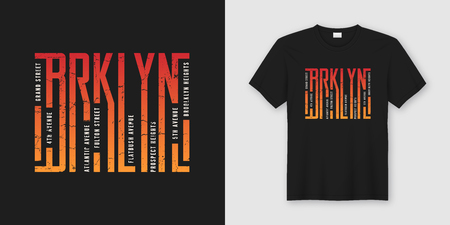 Ilustración de Brooklyn stylish t-shirt and apparel design, typography, print, - Imagen libre de derechos