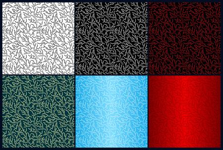 Foto de Beautiful set with different color seamless patterns with lightning - Imagen libre de derechos