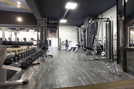 Foto de Modern gym interior with various equipment - Imagen libre de derechos