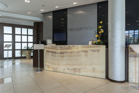 Photo for Reception desk in hotel - Royalty Free Image