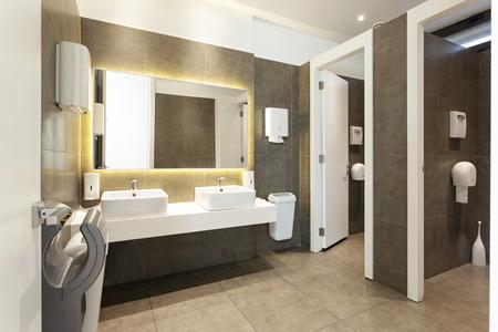 Modern public restroom interior