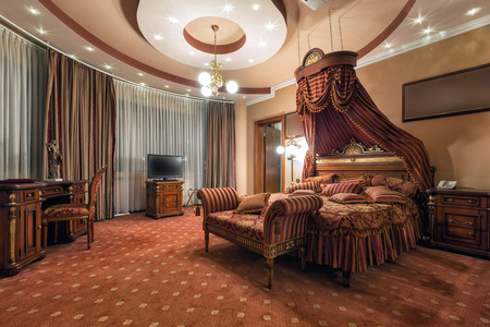 Photo for Luxury classic style bedroom interior - Royalty Free Image