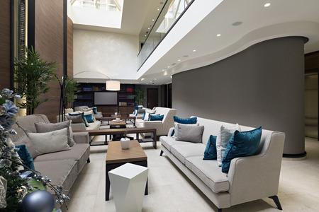 Photo for Modern luxury hotel lobby - Royalty Free Image