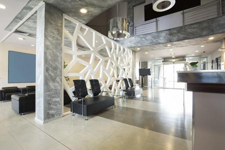 Foto de Modern luxury hotel lobby interior - Imagen libre de derechos