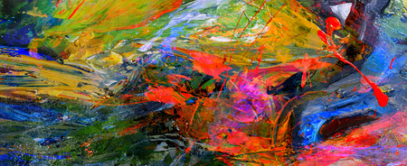 Photo pour Very nice Image of a large scale Abstract Oil Painting - image libre de droit