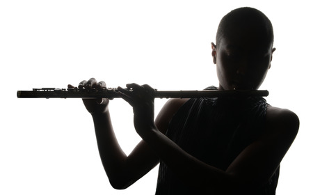 Photo for Nice Image of a woman Musician and her flute - Royalty Free Image