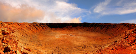 Photo pour Beautiful Image of the great meteor Crater in Arizona - image libre de droit