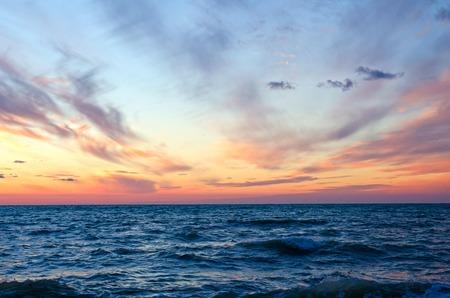 Photo for sunset over ocean in summer.Sevastopol,Crimea - Royalty Free Image