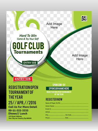 Illustration pour golf tournament flyer template design illustration - image libre de droit