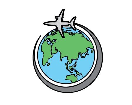 Illustration pour Round the world cartoon illustration, cartoon design style. - image libre de droit